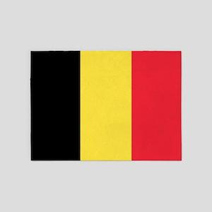 Belgian Flag 5'x7'Area Rug
