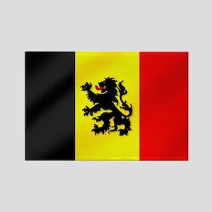 Rampant Lion Belgian Flag Rectangle Magnet
