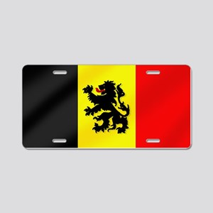 Rampant Lion Belgian Flag Aluminum License Plate