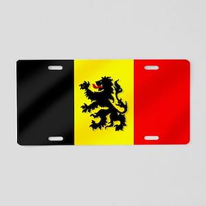 Rampant Lion Belgian Flag Aluminum License Plate