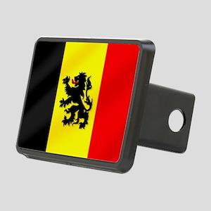 Rampant Lion Belgian Flag Rectangular Hitch Cover