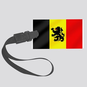 Rampant Lion Belgian Flag Large Luggage Tag