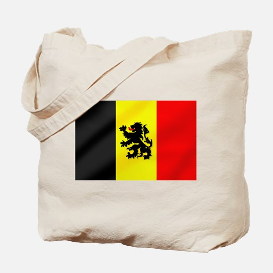 Rampant Lion Belgian Flag Tote Bag