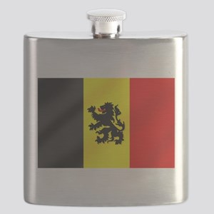 Rampant Lion Belgian Flag Flask