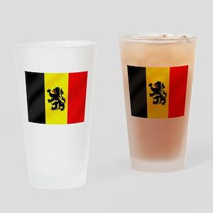 Rampant Lion Belgian Flag Drinking Glass