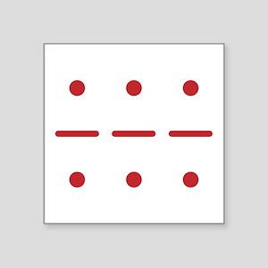 SOS in Morse Code Sticker