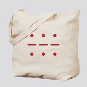 SOS in Morse Code Tote Bag