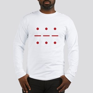 SOS in Morse Code Long Sleeve T-Shirt