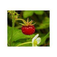 Wild Strawberry Throw Blanket