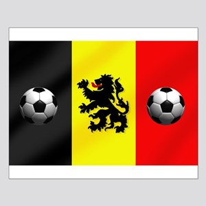 Belgium Football Flag Small Poster