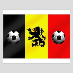 Belgium Football Flag Small Poster