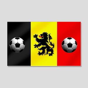 Belgium Football Flag 20x12 Wall Decal