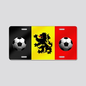 Belgium Football Flag Aluminum License Plate