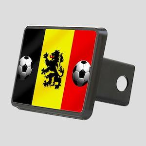 Belgium Football Flag Rectangular Hitch Cover