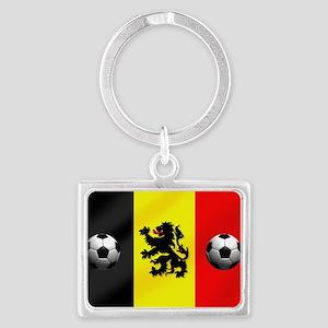 Belgium Football Flag Landscape Keychain