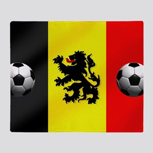 Belgium Football Flag Throw Blanket