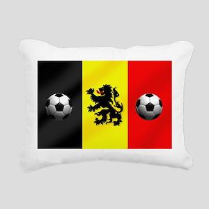 Belgium Football Flag Rectangular Canvas Pillow
