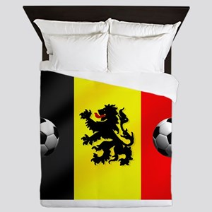 Belgium Football Flag Queen Duvet