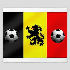 Belgium Football Flag King Duvet