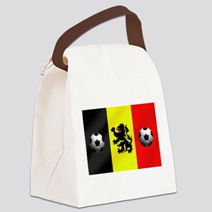 Belgium Football Flag Canvas Lunch Bag