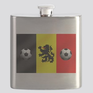 Belgium Football Flag Flask