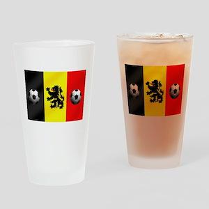 Belgium Football Flag Drinking Glass