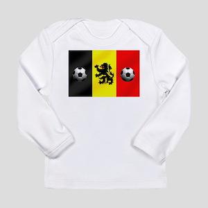 Belgium Football Flag Long Sleeve Infant T-Shirt