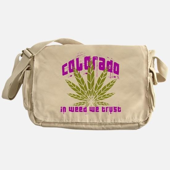 Colorado In Weed We Trust Messenger Bag