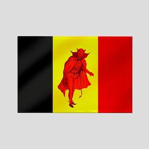 Belgian Red Devils Rectangle Magnet
