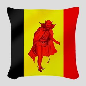 Belgian Red Devils Woven Throw Pillow
