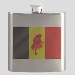 Belgian Red Devils Flask
