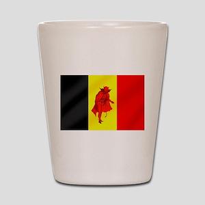 Belgian Red Devils Shot Glass
