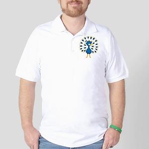 Baby Blue Peacock Golf Shirt