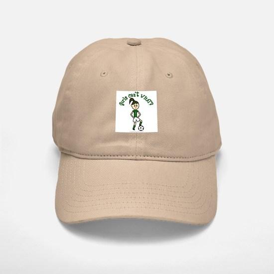 Light Green Soccer Baseball Baseball Cap