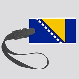 Flag of Bosnia Large Luggage Tag