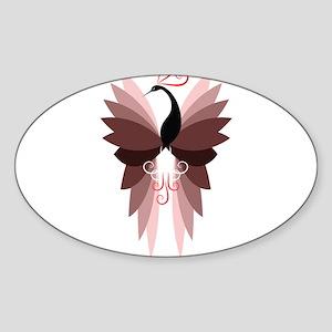 Mauve Peacock Sticker