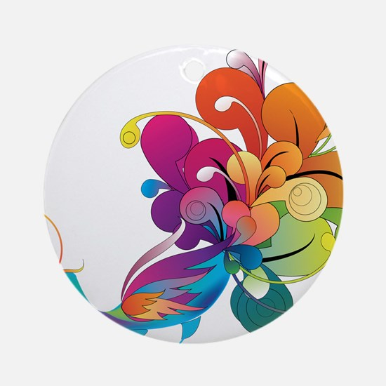 Rainbow Peacock Ornament (Round)