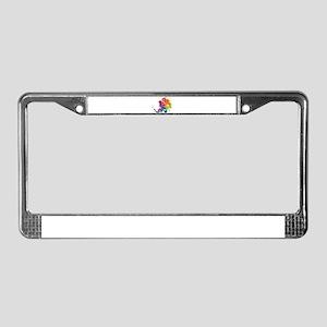 Rainbow Peacock License Plate Frame