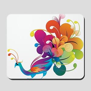 Rainbow Peacock Mousepad