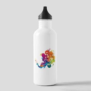 Rainbow Peacock Water Bottle