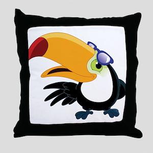 Cartoon Toucan Throw Pillow