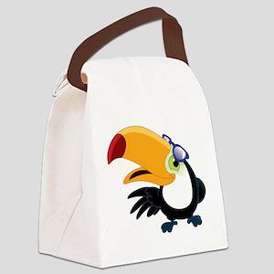 Cartoon Toucan Canvas Lunch Bag