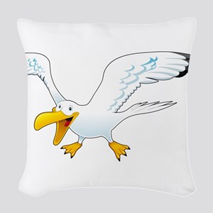 seagull Woven Throw Pillow
