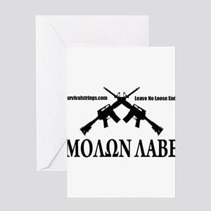 Survival Strings Molon Labe Greeting Card