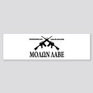 Survival Strings Molon Labe Bumper Sticker