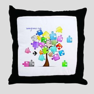 Family Tree Jigsaw Throw Pillow