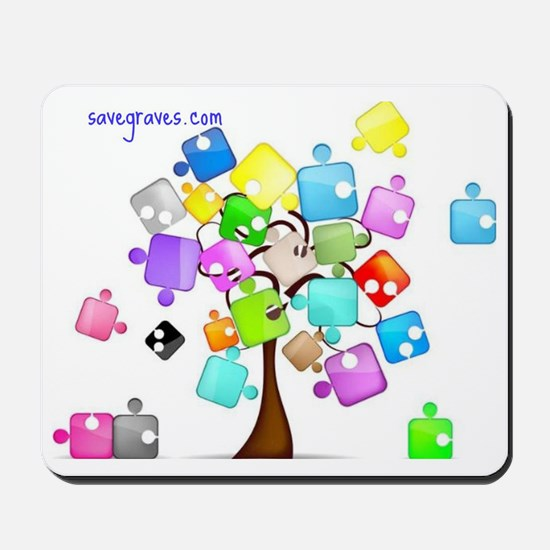 Family Tree Jigsaw Mousepad