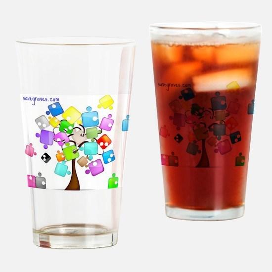 Family Tree Jigsaw Drinking Glass
