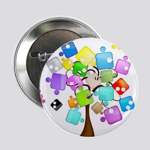 "Family Tree Jigsaw 2.25"" Button"