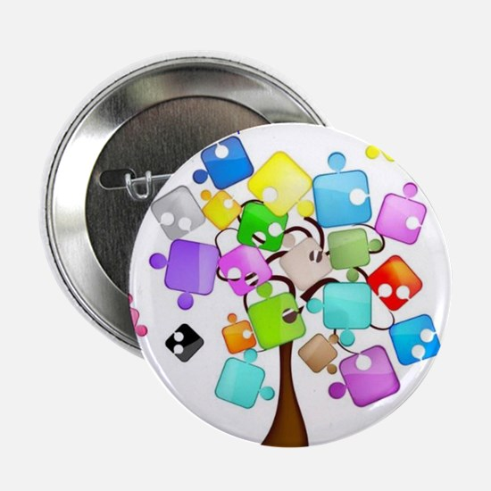 "Family Tree Jigsaw 2.25"" Button"